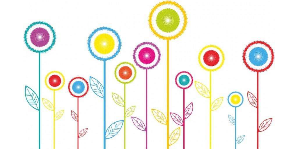 Colori vivaci magazine for Fiori stilizzati colorati
