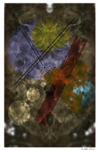 """""""Chaos"""" fumage and digital 2014 Annamaria Cacciapaglia"""