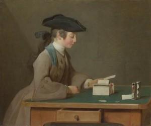 Chardin, Jean-Baptiste Simeon, 1699-1779; The House of Cards