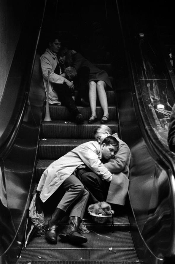 Grand Central at New Years Eve, NYC, 1969 . © Leonard Freed/Magnum Photos